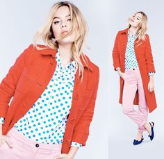 Boden Sophie Coat, Shirt, 7/8 Chinos & Polly Points. #SS15