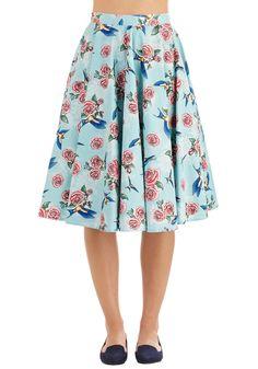 Freewheeling Whimsy Skirt. #blue #modcloth