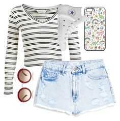 """""""Untitled #49"""" by ppoliveira-po on Polyvore featuring Miss Selfridge, MANGO and Converse"""