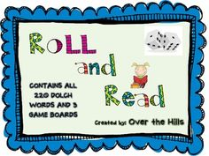 This sight word game is a huge favorite of Kindergarteners, first graders and second graders!  Students will have a blast rolling the dice and reading their sight words to a partner.  If the student reads the word correctly, they get to move the number of spaces that they rolled.