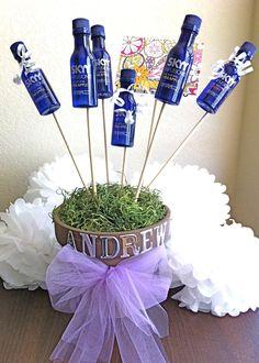 DIY Vodka Bouquet - Great inexpensive gift #DIY