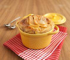 Epicure's Spiced Pear Bread Puddings Menu Desserts, Fall Desserts, Healthy Dessert Recipes, Easy Recipes, Vegetarian Brunch Recipes, Pear Bread, Epicure Recipes, Spiced Pear, Bread Puddings
