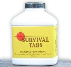 Survival Tabs - Malt Flavor $29.95 Survival tabs are a compact, light weight, life saving food ration for any emergency. Ultra High calorie food tablets provide all essential vitamins and minerals, protein for strength, fat for endurance, dextrose and lactose for fast energy.