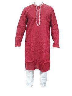 Mogul Red Silk Kurta Pajamas Set for Men's Traditional Wear Indian Dress Mogul http://www.amazon.com/dp/B013UAV8AW/ref=cm_sw_r_pi_dp_CpsZvb0H1MSAM