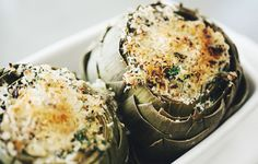 Refining a Classic: The Baked Artichoke - Ricotta-filled artichokes with crispy breadcrumbs are a perfect spring appetizer.