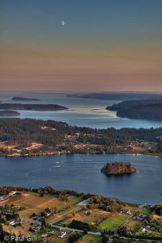 Whidbey Island View - Washington yea, I live here. :)  View of Campbell Lake from Mt. Erie