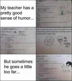 My teacher's sense of humor