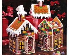 Plastic Canvas Gingerbread House Pattern by StitchySpot on Etsy