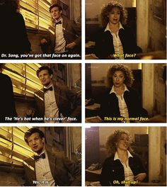 flirty doctor.....(sorry if im posting too much doctor who stuff, if you dont get it, just go and unfollow this board)