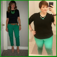 #ChubbyChique 5-5-2015 #ootd #MayPinnedItSpinnedIt Green and black inspiration