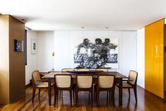 Um apartamento com cara de casa. Veja mais: http://casadevalentina.com.br/projetos/detalhes/um-ape-com-cara-de-casa-560 #decor #decoracao #interior #design #casa #home #house #idea #ideia #detalhes #details #style #estilo #casadevalentina #modern #moderno #diningroom #saladejantar