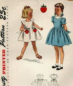 20d425e89538a Vintage Simplicity Cute Child's Dress Sewing Pattern! # 3502 Uncut sz. 3  Unused!