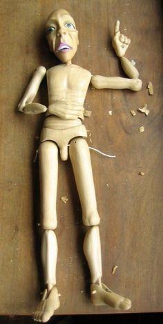 marionnette bois (Sculpture) par Pierre Chassaing marionnette bois : le gringalet