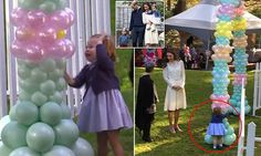 Princess Charlotte and Prince George thrilled by a petting zoo and puppet show in Canada | Daily Mail Online
