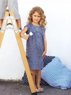 Schnittmuster: Kleid - Leinen - Mädchen - Gr. 92 - 188 - Kinder - burda style