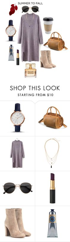 """""""Heading to Fall"""" by anais-wardrobe on Polyvore featuring mode, OUTRAGE, FOSSIL, H&M, Gianvito Rossi, L'Occitane et Givenchy"""