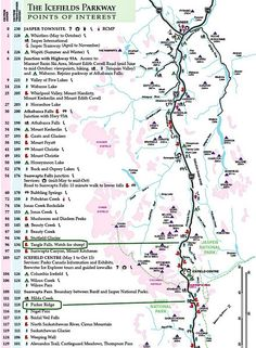 icefields parkway canada   This partial map of the Icefields Parkway sets the stage for today's ...