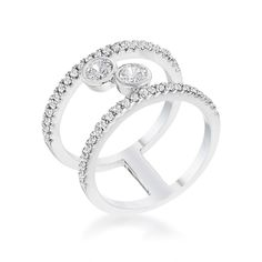 Iliana Floating Bubbles CZ Fashion Ring | 0.9ct