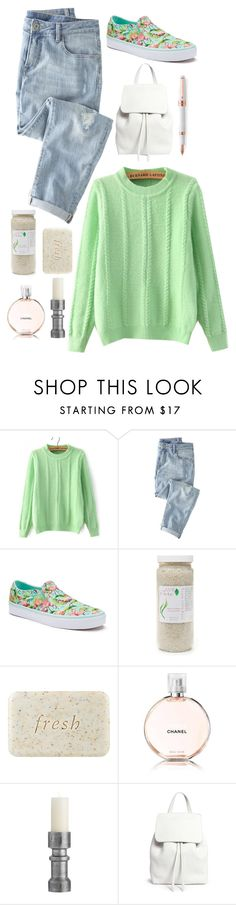 """""""Fresh Morning"""" by my-black-wings ❤ liked on Polyvore featuring Wrap, Vans, 100% Pure, Fresh, Chanel, Arteriors, Mansur Gavriel and Montegrappa"""