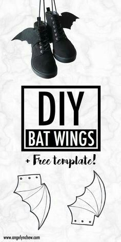 Learn how to make this easy gothic bat wings attachment for your shoe! It adds a little creativeness to your everyday outfits. Wear them for back to school, Halloween party and even on a daily basis! Inuyasha Cosplay, Sasuke Cosplay, Deku Cosplay, Todoroki Cosplay, Catwoman Cosplay, Spiderman Cosplay, Cosplay Makeup, Tokyo Ghoul Cosplay, Halloween Cosplay