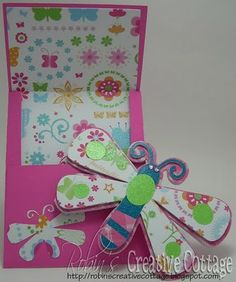 Robin's Creative Cottage: Dragonfly Shaped Card -W/ Cut File