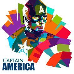 Captain America on WPAP by me #wpap #captainamerica #art #popart #digitalart #indonesianart #coreldraw Pop Art Face, Sketch Manga, 3d Art Drawing, Marvel And Dc Superheroes, Indonesian Art, Pop Art Portraits, Hero Wallpaper, Graphic Artwork, Abstract Portrait