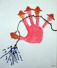 Hand print fireman