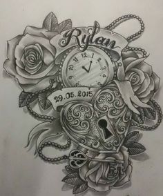 Image result for colour tattoos with stopwatches