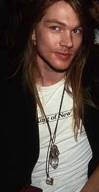 Axl Rose back in the day. Talented and handsome guy.