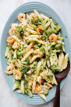Creamy Penne with Shrimp and Broccoli — A Thought For Food