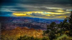 Golden Hour at the Grand Canyon from the south rim.