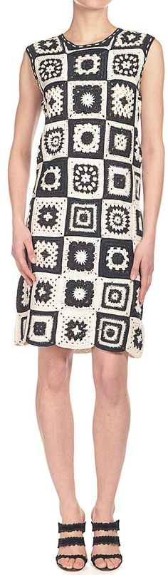 "Spencer Vladimir - granny squares crochet dress [ ""Spencer Vladimir - granny squares crochet dress, for inspiration"" ] # # #Crochet #Clothes, # #Crochet #Dresses, # #Granny #Squares, # #Knit #Dresses, # #Shirt, # #Skirts, # #Tric, # #Clothes"