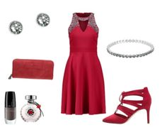 Red in style - Partyoutfit - stylefruits.de Neue Trends, Designs, Polyvore, Image, Fashion, Moda, Fashion Styles, Fashion Illustrations