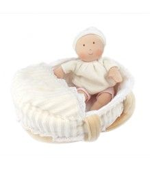 Carry Cot Baby with Bottle & Blanket
