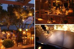 A Greek Flavored Wedding Party @ Island by De Plan V. Warm lighting by night, wish book corner, welcome dessert table & dinner area! Wedding Games, Wedding Party Favors, Wedding Events, Wedding Decorations, Table Decorations, Yellow Wedding Flowers, Blue Wedding Shoes, Fall Wedding Colors, Book Corners