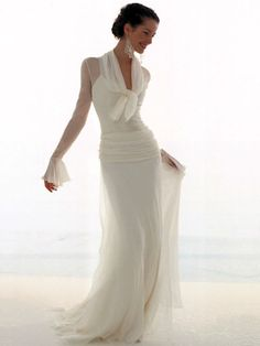 I think this would be a nice honeymoon dress!