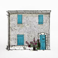 """76 Likes, 5 Comments - W.W. Pierce (@willustrating) on Instagram: """"A house in Cassis to kick off my French Riviera series of drawings.  #cassis #illustrator #tombow…"""""""