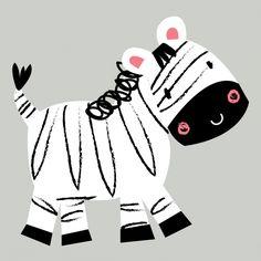 Gumtoo Designer Temporary Tattoos - Jeeba the Zebra