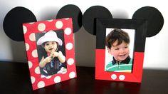 Portarretratos divertidos de Mickey y Minnie para las fotos de tus hijos