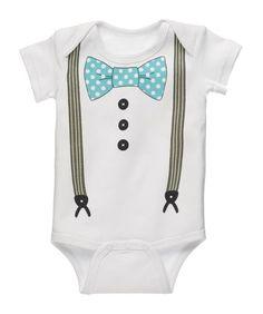 Boy's Diaper Shirt With Suspenders Product Description 0-6 Months Diaper Shirt (Onesie)