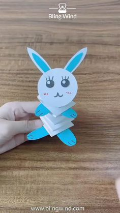 DIY Origami Bouncy Rabbit Try this bouncy rabbit DIY paper craft. Have fun with your family and chil Diy Crafts Hacks, Diy Crafts For Gifts, Diy Arts And Crafts, Creative Crafts, Paper Crafts Origami, Paper Crafts For Kids, Preschool Crafts, Diy Paper, Rabbit Crafts