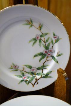Vintage Se Yei Fine China Bread Dessert  Plates Set of Seven Wild Cherry Blossom Replacement PanchosPorch (24.50 USD) by PanchosPorch
