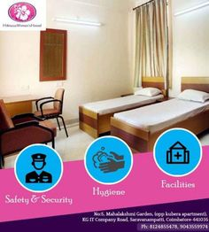 Hibiscus Women's Hostel Services Hibiscus Women's Hostel offers High Class homely stay for students, working women and professional women. Some of our services are:  * Safety & Security: A full time Warden will reside in the hostel to take care of the inmates and CC TV monitored security at common areas will be professionally maintained. Apart from these, we provide security personal to keep watch both during the day and the night.