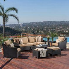 Northridge 8 Piece Sunbrella Sofa Set with Cushions