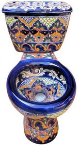 Mexican Toilet Decorative Toilet Rustic Bathrooms And Mexicans