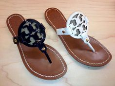 Tory Burch flat sandals.