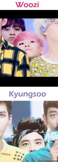 Woozi and Kyungsoo