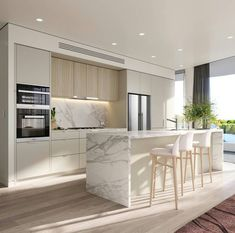 Kitchen Room Design, Luxury Kitchen Design, Luxury Kitchens, Home Decor Kitchen, Interior Design Kitchen, Home Kitchens, Diy Kitchen, Interior Modern, Kitchen Designs