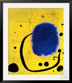 L'Oro dell' Azzurro Pre-made Frame by Joan Miró at Art.com