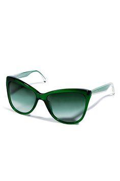 Dolce & Gabbana  Transparent Green Acetate Cat-Eye Gradient Sunglasses  @ stylebop.com